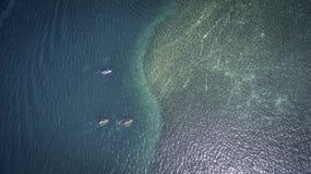 Aerial view of Saint Martin Beach. Best St Martin Beaches in Caribbean from the sky, Aerial views Stock Photos