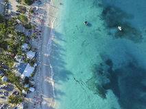 Aerial view of Saint Martin Beaches Stock Images