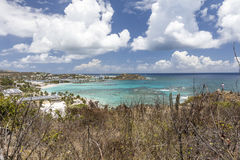 Aerial view of Saint Martin Beaches Royalty Free Stock Images