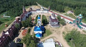 Aerial view of Saint Nikolas women monastery on Solba, Yaroslavl Royalty Free Stock Image