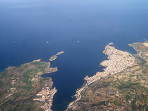 Aerial view of Saint Paul's i. Slands in Malta Royalty Free Stock Photos