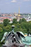 Aerial view of Saint Petersburg Royalty Free Stock Images