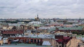 Aerial view of Saint Petersburg Stock Photo