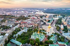 View of Saint Sophia Cathedral in Kiev, Ukraine. Aerial view of Saint Sophia Cathedral in Kiev, Ukraine royalty free stock photo