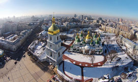 Aerial view of Saint Sophia Cathedral in Kiev Stock Image