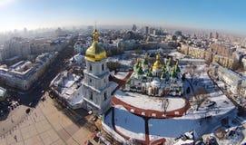 Aerial view of Saint Sophia Cathedral in Kiev. Ukraine Stock Image