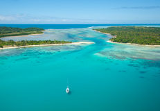 Aerial view of Sainte Marie island, Madagascar Stock Image