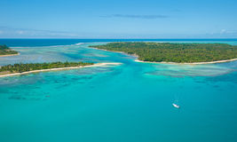 Aerial view of Sainte Marie island, Madagascar Royalty Free Stock Photo