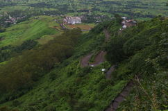 Aerial view from Sajjangad fort Stock Images