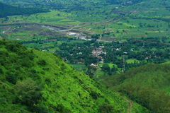 Aerial view of Sajjangad landscape Stock Image