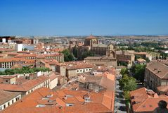 Aerial view of Salamanca Royalty Free Stock Photos