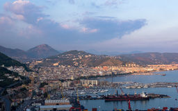 Aerial view of Salerno in Italy Stock Photo