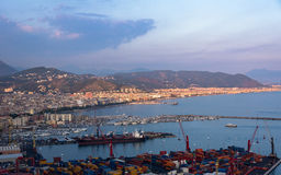 Aerial view of Salerno in Italy Stock Images