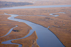 Aerial view of salt marsh Stock Photography