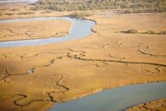 Aerial view of salt marsh Stock Image