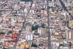 Aerial view of Salta City - Salta, Argentina royalty free stock images