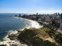 Aerial view of Salvador, Bahia in Brazil. Aerial view of Salvador da Bahia cityscape, Bahia, Brazil stock photos