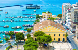 Aerial view of Salvador City in Bahia, Brazil Royalty Free Stock Images