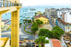 Aerial view of Salvador City in Bahia, Brazil Stock Photos