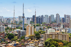 Aerial View of Salvador Cityscape, Bahia, Brazil.  Royalty Free Stock Images