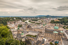 Aerial view of Salzburg Austria Royalty Free Stock Images