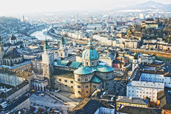 Aerial view of Salzburg, Austria Stock Photo