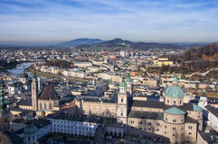 Aerial view of Salzburg Royalty Free Stock Image