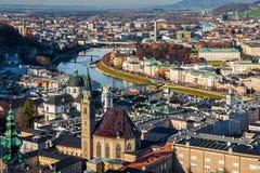 Aerial view of Salzburg, Austria Royalty Free Stock Image