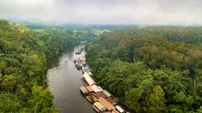 Aerial view of Sam Yok Yai park royalty free stock photography