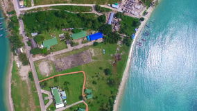 Aerial View of Samui Tropical Island. Shot with a DJI Phantom 3 FHD 29fps stock video footage