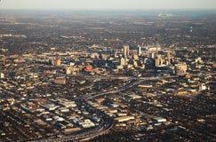 San antonio downtown. Aerial view of san antonio downtown Royalty Free Stock Images