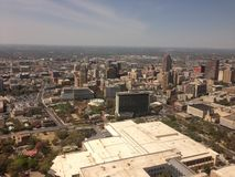 Aerial view of San Antonio, Texas from the Tower of the Americas. Travel, tourism, city, buildings Royalty Free Stock Images