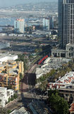 Aerial view of San Diego. Downtown stock photos