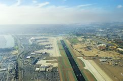 Aerial view of San Diego airport Stock Image