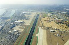 Aerial view of San Diego airport Stock Photos