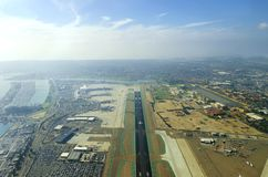 Aerial view of San Diego airport Royalty Free Stock Photography