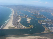 Aerial View of San Diego, CA Stock Image