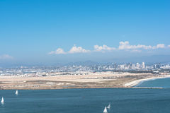 Aerial view of San Diego, California stock images