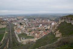 Aerial view of San Esteban De Gormaz Royalty Free Stock Images