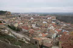 Aerial view of San Esteban de Gormaz Royalty Free Stock Image
