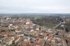 Aerial view of San Esteban De Gormaz Stock Photo