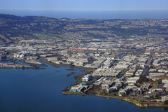 Aerial View of San Francisco Bay Area Stock Image