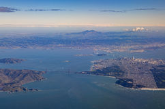 Aerial view of San Francisco downtown cityscape Royalty Free Stock Images