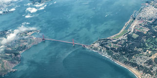 Aerial View of San Francisco Golden Gate Bridge Stock Image