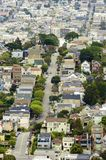 Aerial view of San Francisco hills Royalty Free Stock Image
