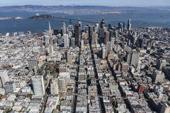 Aerial View of San Francisco and Oakland California Royalty Free Stock Photography
