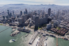 Aerial View San Francisco Piers and Towers Stock Image