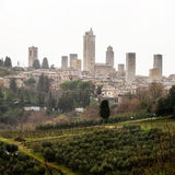 Aerial view of San Gimignano, Italy Stock Photography