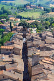 Aerial view of San Gimignano Stock Photography