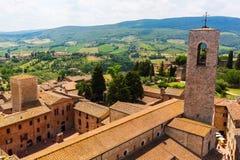 Aerial view of San Gimignano, Tuscany, Italy Stock Image